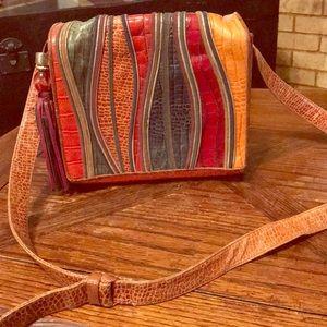VTG Sharaf colorful leather bag